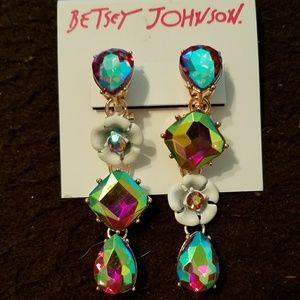 Betsey Johnson Fruity Petals Flower earrings